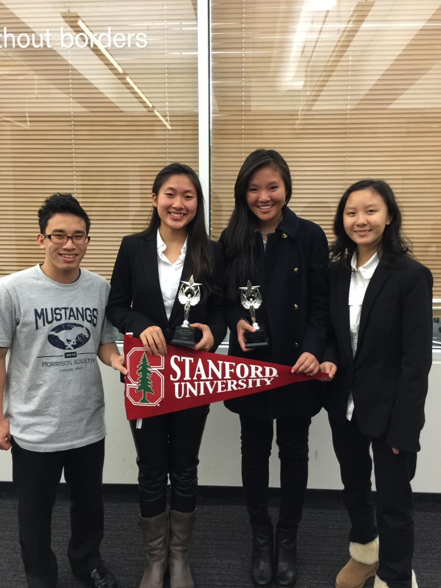 2015-02-08 Stanford Debate Tournament: ADL Debaters Win in