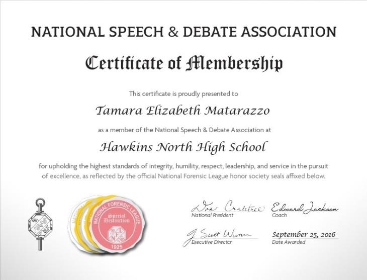 HS Certificate
