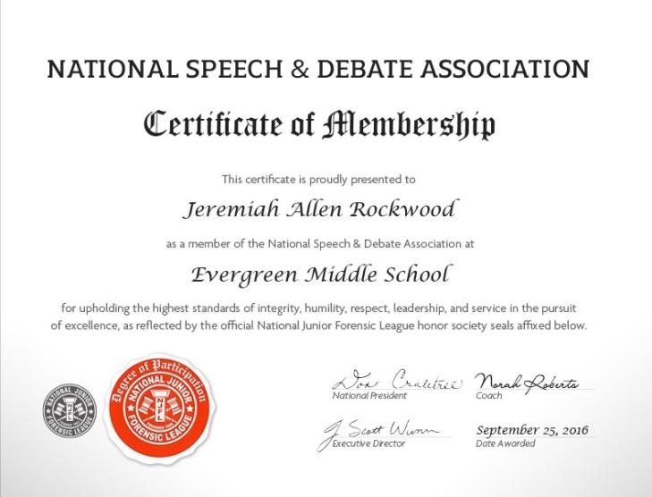 MS Certificate