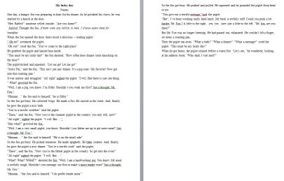 Sample 2 - Story Telling