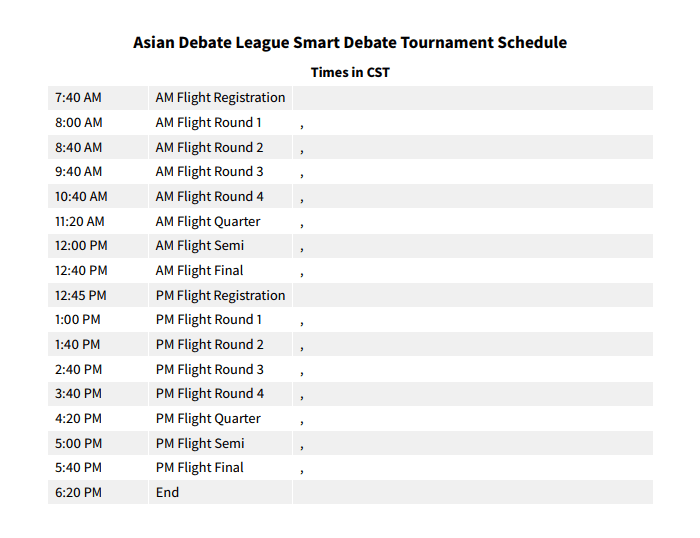 2.25 SD Tournament Schedule