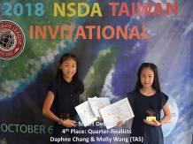 SD 4th Molly Wang; Daphne Chang